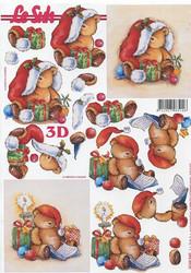 Lesuh 3d-kuva istuva joulunallukka a4 4169.540