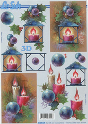 Lesuh 3d-kuva kynttilät ruskealla taustalla a4 4169.139
