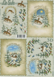 Lesuh 3d-kuva lumimaisema kehyksissä a4 4169.179