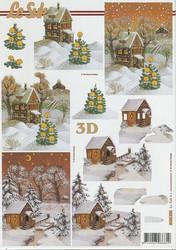 Lesuh 3d-kuva talvimaisemat ruskea a4 4169.320