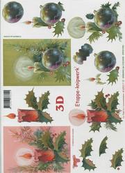 Lesuh 3d-kuva joulukynttilät vihreä/punainen a4 4169217