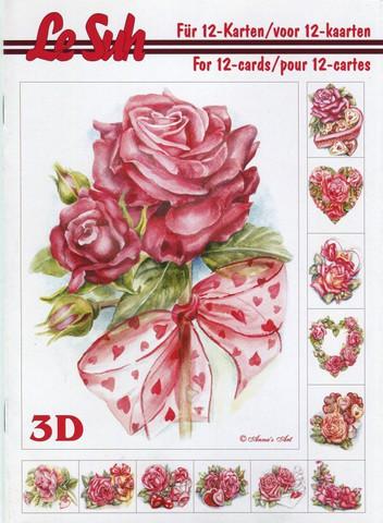 Lesuh 3d-kirja ruusut/sydämet a5