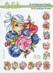 Lesuh 3d-kirja joulukukkaasetelmat ja -koristeet a5
