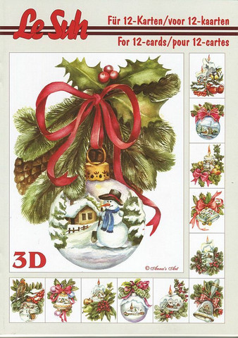 Lesuh 3d-kirja joulupalloasetelma a5