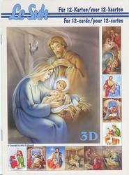 Lesuh 3d-kirja Maria, Joosef ja lapsi a5