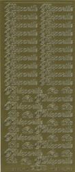 Ääriviivatarrat Hääparille, Kihlaparille kulta Starform 1612