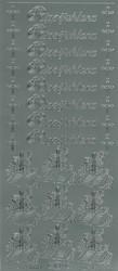 Ääriviivatarrat Rippijuhlana + ristit ja koristeet hopea 1604