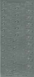 Ääriviivatarrat Kastepäivänä/Vauvaonnittelut + koristeet hopea 1609