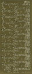 Ääriviivatarrat Kastepäivänä/Vauvaonnittelut + koristeet kulta 1609