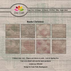 Dixi Craft paperikko Rustic Christmas 6x6