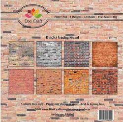 Dixi Craft paperikko Bricks background 6x6