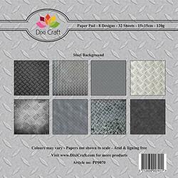 Dixi Craft paperikko Steel background 6x6