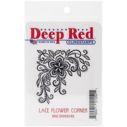 Deep red leimasin Lace Flower Corner