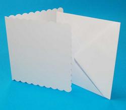 Craft UK Piparireunaiset neliökorttipohjat ja kirjekuoret 6x6