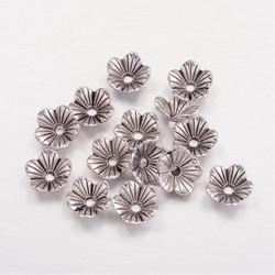 Helmihattu alloy kukka antiikkihopea 4,5x9mm/10kpl