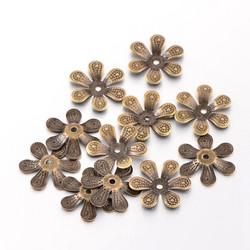 Helmihattu kukka 17mm/30kpl pronssi