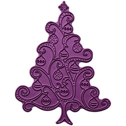 Cheery Lynn Designs stanssi Ornament Christmas Tree