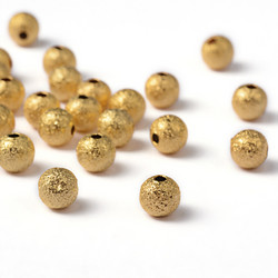 Huurremetallihelmi 6mm 30kpl kulta