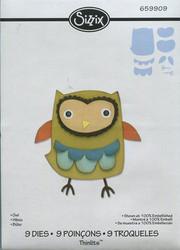 Sizzix Thinlits stanssit Owl pöllö