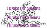 I Brake for stamps leimasin Gardening Gracie