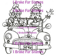 I Brake for stamps leimasin Thelma and Louise