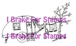 I Brake for stamps leimasin Trailer