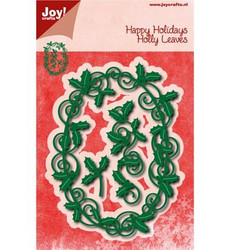 Joy Craft stanssit Happy Holidays Holly Leaves