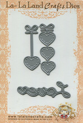 La-la land crafts stanssit Hanging Hearts & Love Word