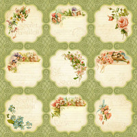 Graphic45 paperi Secret Garden Meadow Lark