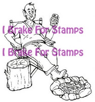 I Brake for stamps leimasin Camping Carl
