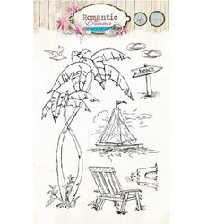 ST Romantic summer kirkas leimasetti stamprs144