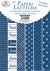 JK paperilajitelma joulu sininen a5