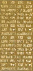 Simply Creative Christmas Glitter tarrat Gold Relatives
