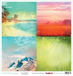 Scrapberry´s paperi It´s wonderful life Personal paradise 12x12