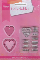 MD collectables stanssit Candy hearts + leimat