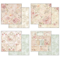 Stamperia paperikko Shabby Rose 12x12