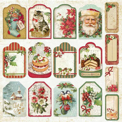 Stamperia korttikuvat Christmas Vintage Tags & Labels