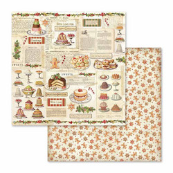 Stamperia paperi Christmas Vintage Sheet Patisserie