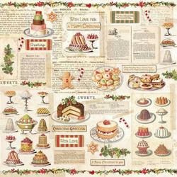 Stamperia paperi Christmas Vintage Sheet Patisserie