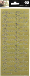 Ääriviivatarrat Hyvää Joulua kulta 5705 JK