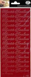 Ääriviivatarrat Hyvää Joulua punainen 5705 JK