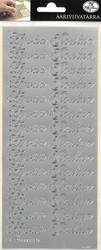Ääriviivatarrat Hyvää Joulua hopea 5705 JK