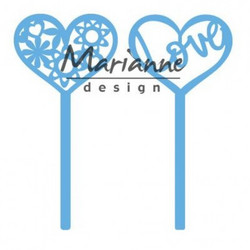 Marianne Design Creatables heart pins set 2 stanssit lr0573