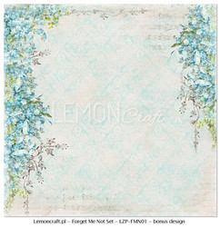 Lemoncraft Forget Me Not collection kit kuviopaperit 12x12