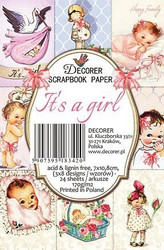 Decorer korttikuvat It´s a girl 24kpl