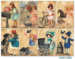 Decorer korttikuvat Happy Kids 24kpl
