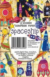 Decorer korttikuvat Spaceship 24kpl