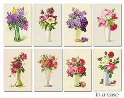 Decorer korttikuvat in a vase 24kpl