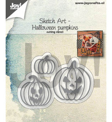 Joy Craft stanssit Sketch Art Halloween pumpkins