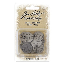 Idea-ology Tim Holtz Tokens Christmas riipukset 18pcs TH93997